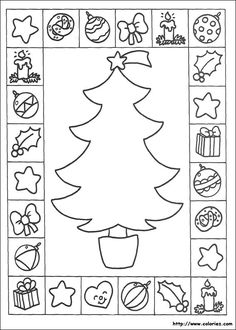 Christmas Coloring Pages - Bing Images Christmas Arts And Crafts, Christmas Activities For Kids, Preschool Christmas, Noel Christmas, Christmas Colors, Christmas Themes, Winter Christmas, Holiday Crafts, Christmas Worksheets