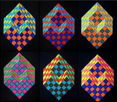 arteascuola  optical illusion cube how to