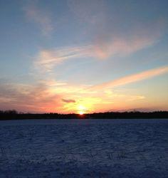 February sunset on Range Line Road, Washington Island, WI www.sieversschool.com