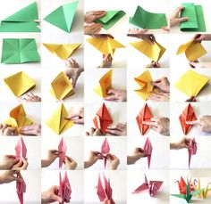 Paper Crane Tutorial to Help Your Children & Those in Japan.  Heaps of ideas for you and your children to do together.