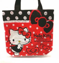 RED & WHITE DOTS HELLO KITTY TOTE BAG $20.75 http://thingsfromjapan.net/red-white-dots-hello-kitty-tote-bag/ #hello kitty bag #sanrio kitty #hello kity #kawaii bag