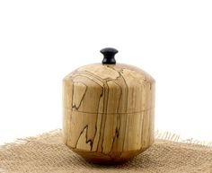 Spalted Wooden Round Elm Box