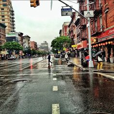Rainy East Village