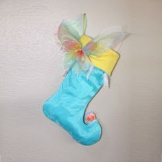 Fairy Christmas Stocking by BelieveinMermaids on Etsy
