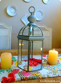 large tabletop lantern from brass light fixture