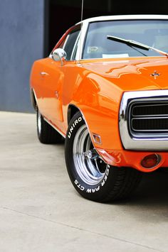 I just love the shot of the muscle cars like this!