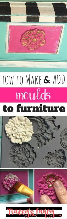 How to make and add clay moulds to furniture | Painting Tips and Techniques by…