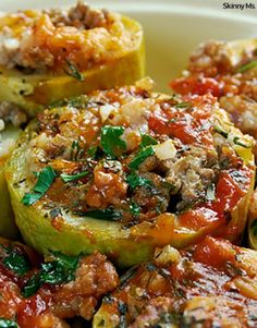 Southwestern Stuffed Zucchini has a delicious kick and is made without any processed ingredients.