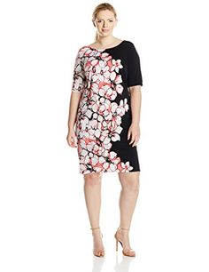 This short sleeve dress had a fantastic floral print running down the entire side of the dress, covering the neck and sleeve while running all the way down