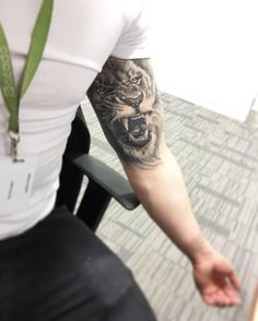"62 Likes, 3 Comments - Liam Cowman (@liaaamcowman) on Instagram: ""All finished and healed  #tattoo #lion #halfsleeve #ink #michaelrose #tattoos #leo"""