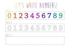 Free printable to laminate and use with dry erase markers for reusable number practice