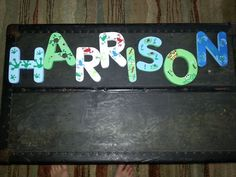 Custom hand painted wooden letters for children's by ArtbyShanni www.facebook.com/artbyshanni