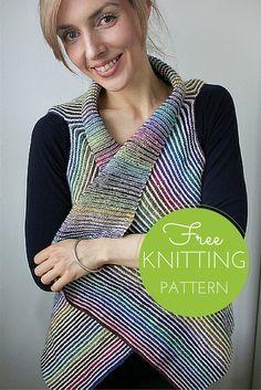 Kauni Cascade Vest Free Knitting Pattern