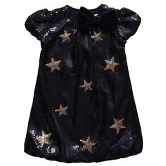 Girls Stars Dress | Microbe by Miss Grant