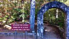 The stone arch marking the start of the 10 mile approach trail leading to the start of the Appalachian Trail at Springer Mountain. It's from here that many journeys along the famed trail begin as it winds through the Appalachian Mountains over 2100 miles to Maine.
