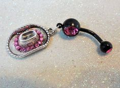 #YOUniqueDZignsArtfire on Artfire                   #ring                     #Belly #button #ring #pink #crystal #Cowgirl #pink #crystals #14ga            Belly button ring w pink crystal Cowgirl hat and pink crystals 14ga                                     http://www.seapai.com/product.aspx?PID=680751
