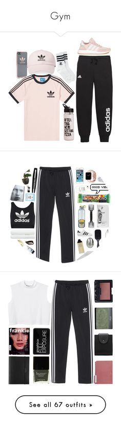 """Gym"" by laannu ❤ liked on Polyvore featuring adidas, ban.do, WorkWear, workout, gym, adidas Originals, Soft-Tex, Denman, Urbanears and Pier 1 Imports"
