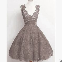 Every girl has a dream to be a princess,this dress can achieve your dream.With the lace and V-neck design,you could be more elegant and draw others' attention.M