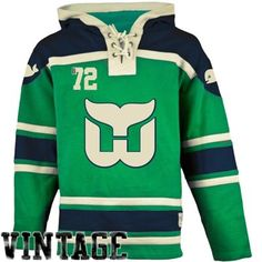 Old Time Hockey Hartford Whalers Lace Jersey Team Hoodie - Green Hartford Whalers, Hoodies, Sweatshirts, Nhl, Hockey, Vintage Outfits, Graphic Sweatshirt, Lace, Green