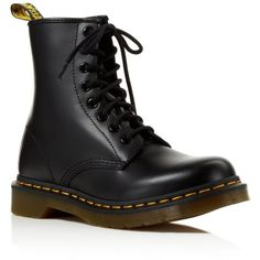 Dr. Martens 1460 Lace Up Boots ($86) ❤ liked on Polyvore featuring shoes, boots, dr.martens, black, laced up boots, dr martens shoes, dr martens boots, leather boots and black grunge boots
