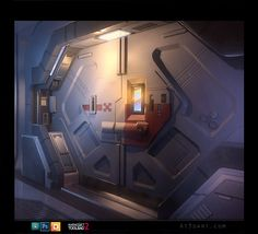 Sci-fi Door, Anthony Trujillo on ArtStation at https://www.artstation.com/artwork/sci-fi-door-43cd76f9-264b-4264-b103-cae584c3d81e
