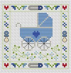 Blue Pram cross stitch card kit                                                                                                                                                                                 More
