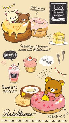 Rilakkuma Rilakkuma Wallpaper, Sanrio Wallpaper, K Wallpaper, Kawaii Wallpaper, Wallpaper Iphone Cute, Chibi Kawaii, Kawaii Doodles, Kawaii Art, Kawaii Anime