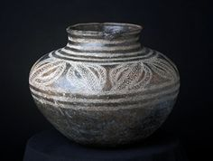 Africa | Vessel from the Makonde people of Tanzania or Mozambique | Terracotta