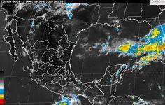 Para las próximas horas se pronostican tormentas muy fuertes enGuerrero, Oaxaca, Chiapas y Veracruz, ytormentas fuertes enSonora, Sinaloa, Chihuahua, Durango, Nayarit, Jalisco, Colima, Michoacán, Tabasco, Campeche, Yucatán y Quintana Roo ...