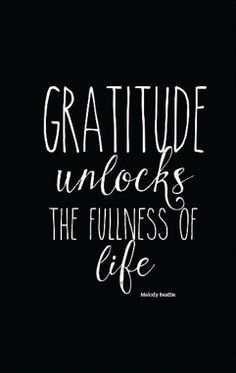 Gratitude Printable Quote Art, Gratitude Unlocks the Fullness of Life Beautiful…