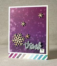 January 2015 Thank You, featuring Simon Says Stamp January Card Kit | shurkus.com