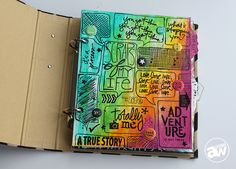 Title Page from Scraps of My Life Mini Album. Project Details http://andreawalforddesigns.com/scraps-of-my-life-project/ This mini album incorporates art journaling, scrapbooking, mixed media, and project life / pocket scrapbooking.