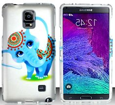"myLife Pearl White + Bright Blue Circus Elephant {Unique, Cute, Cartoon} 2 Piece Snap-On Rubberized Protective Faceplate Case for the Samsung Galaxy Note 4 ""All Ports Accessible"" myLife Brand Products http://www.amazon.com/dp/B00U4BV84M/ref=cm_sw_r_pi_dp_3Eyhvb1DC2M84"