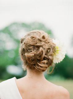Wedding hair style bride | Elisa B photography