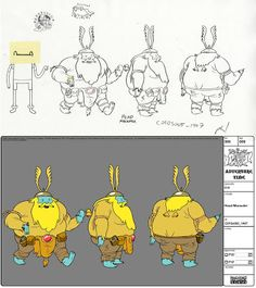 Adventure Time Model Sheet