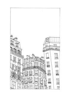 Paris illustration - Line Drawing Art Print - Minimalist Art Print - Black and White Wall Art - France Art - Architecture Drawing : Paris illustration - Line Drawing Art Print - Minimalist Art Print - Black and White Wall Art - Fran Building Sketch, Building Drawing, Illustration Parisienne, Paris Drawing, Minimal Art, Art Et Architecture, Art Minimaliste, Line Drawing, Drawing Art