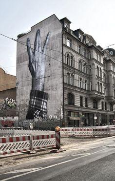 JR french artist - The Wrinkles Of The City, Berlin #Berlin #Art #StreetArt  #creative #inspiration