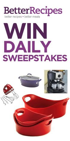 Win Daily Prizes With Better Recipes