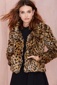 Bardot Leopard Crop Jacket | Shop Clothes at Nasty Gal