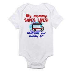Mommy Saves Lives Ambulance Onesie