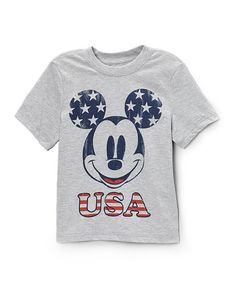 Look what I found on #zulily! Gray 'USA' Mickey Tee - Toddler & Boys #zulilyfinds