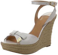 beautiful  summer shoes | Beautiful Ivanka Trump wedge sandals.