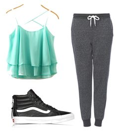 Loungin' by squidney1027 on Polyvore featuring polyvore, fashion, style, Topshop, Vans and clothing