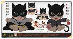 Baby Batman x-stitch Beaded Cross Stitch, Cross Stitch Baby, Cross Stitch Embroidery, Cross Stitch Patterns, Hero Crafts, Baby Batman, Baby Doll Accessories, Stitch Cartoon, Baby Images