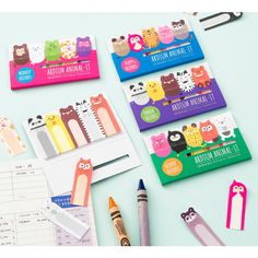 Ardium Cute animal sticky memo notes set (http://www.fallindesign.com/ardium-cute-animal-sticky-memo-notes-set/)