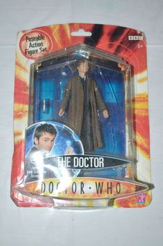 DOCTOR WHO 10th Doctor David Tennant Action character options 2004 Doctor Who 10, 10th Doctor, David Tennant, Hobbies, Action, Toys, Character, Vintage, Activity Toys