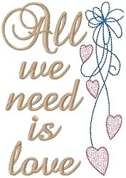 All We Need is Love 5x7 Sampler | Wedding | Machine Embroidery Designs | SWAKembroidery.com HeartStrings Embroidery