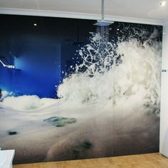 Wave Wall Bathroom Splashback Wave Wall Bathroom Splashback Wave Wall Bathroom Splashback Wave Wall Bathroom Splashback Wave Wall Bathroom Splashback Wave W Bathroom Shower Panels, Bathroom Vinyl, Bathroom Spa, Bathroom Ideas, Feature Wall Design, Feature Tiles, Mosaic Tile Designs, Wall Art Designs, Vinyl Wallpaper