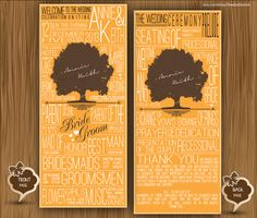 Custom Wedding Program Modern Elegant typographic rustic chic blue color Bridal Shower Creative Typography card clipart - printable file - by TeeshaDerrick at easy.com