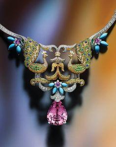 Van Cleef & Arpels Peacock Décor necklace, from the Bals de Légende…
